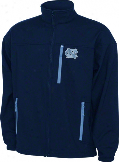 North Carolina Tar Heels Navy Columbia Give 'em 6 Softshell Jacket