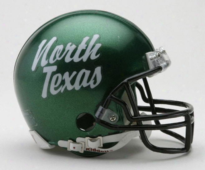 North Texas Mean Green Riddell Mini Helmet