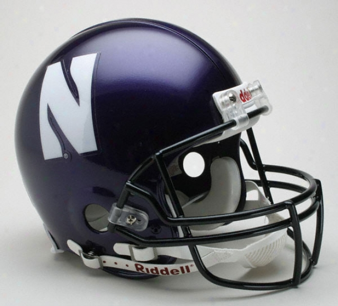 Northwestern Wildcats Authentic Pro Line Riddell Full Sizee Helme5