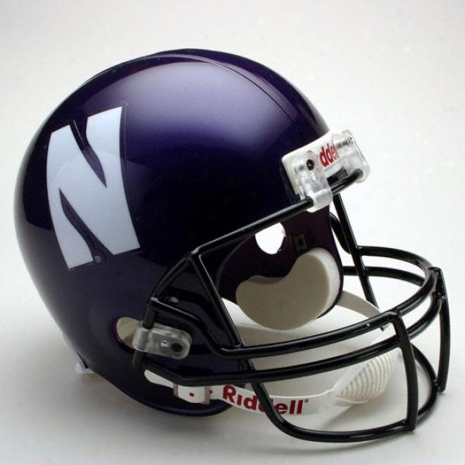 Northwestern Wildcats Deluxe Repiica Riddell Helmet