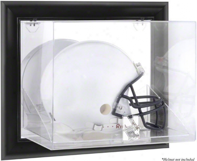 Northwestern Wildcats Framed Wall Mountec Logo Helmet Display Case