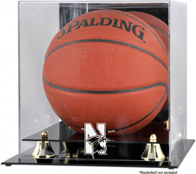 Northwestern Wildcats Golden Classic Loto Basketball Display Case With Mirror Back