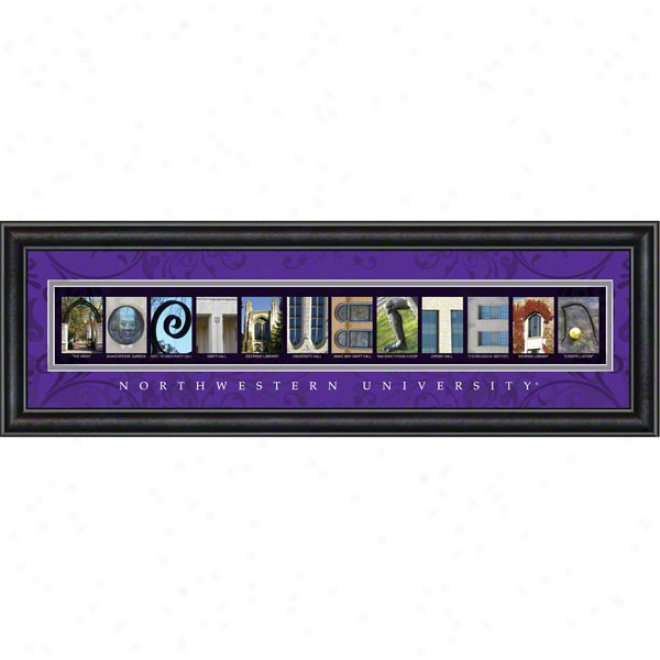 Northwestern Wildcats Letter Art