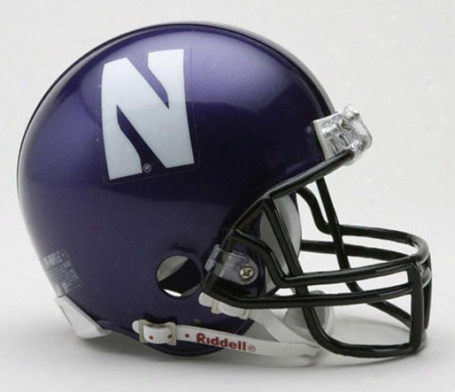 Nlrthwestern Wildcats Riddell Mini Helmet