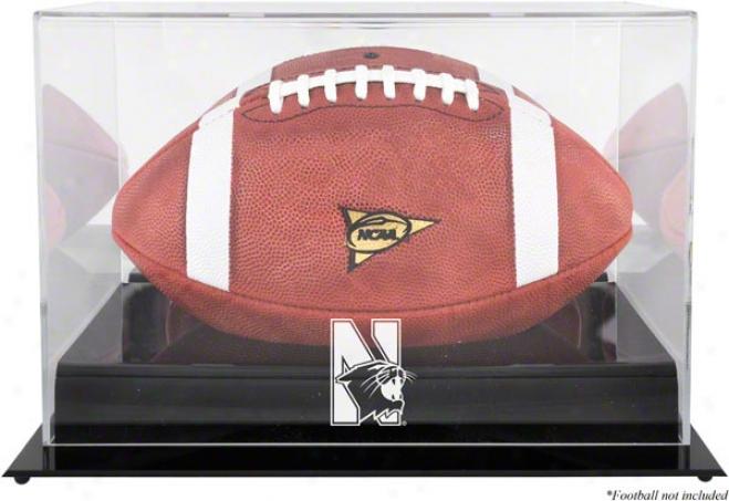 Northwestern Wildcats Team Loho Football Display Circumstance  Details: Black Base, Reflector Back