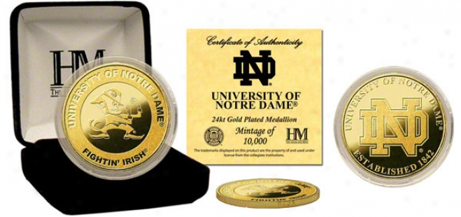 Notre Dame Fighting Irish 24kt Gold Coin