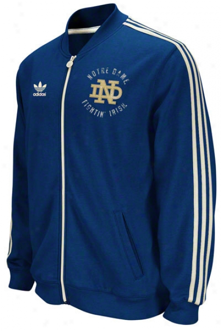 Notre Dame Fighting Irish Adidas Navu Homecoming Track Jacket
