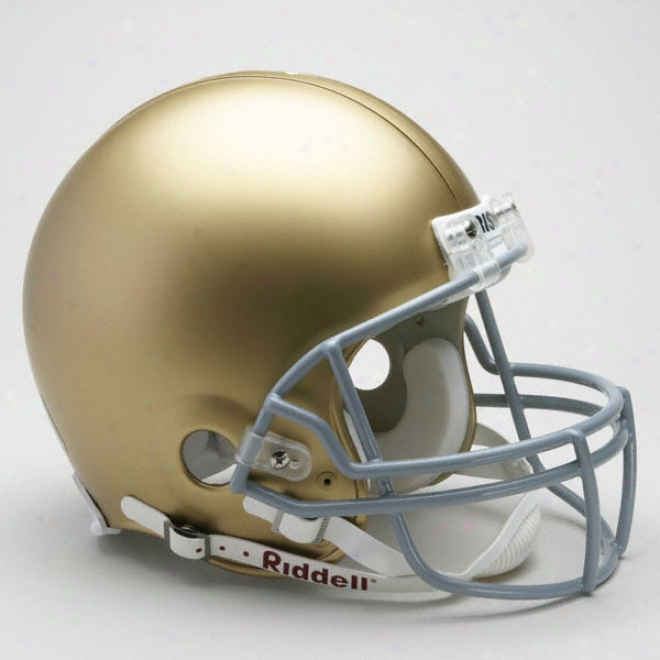 Notre Dame Fighting Irish Authentic Pro LineR iddell Full Size Helmet