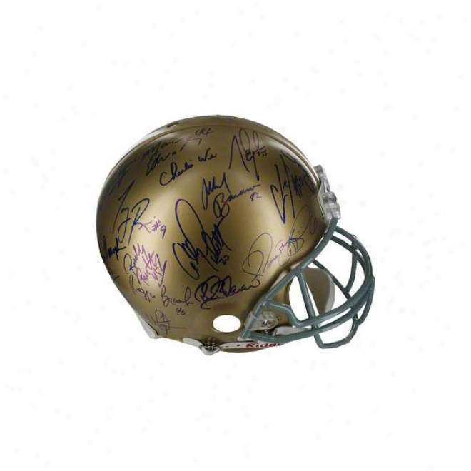 Notre Dame Fighting Irish Autographed Helmet  Details: Grrats Phase Two, 16 Signatures