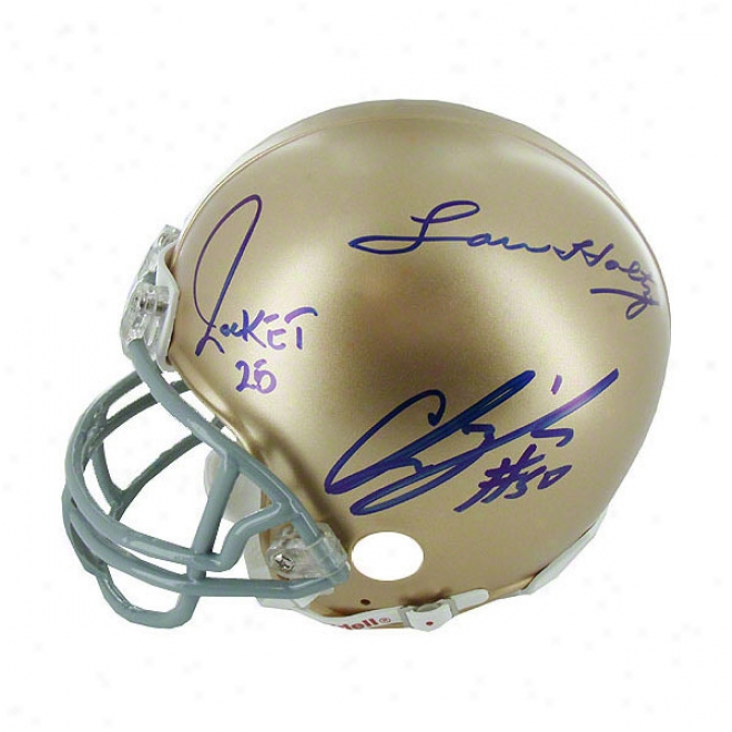 Notre Mistress Fighting Irish Autographed Mini Helmet