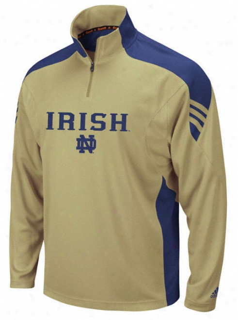Notre Dame Fighting Irish Gold 1/4 Zip Coaches Pullover