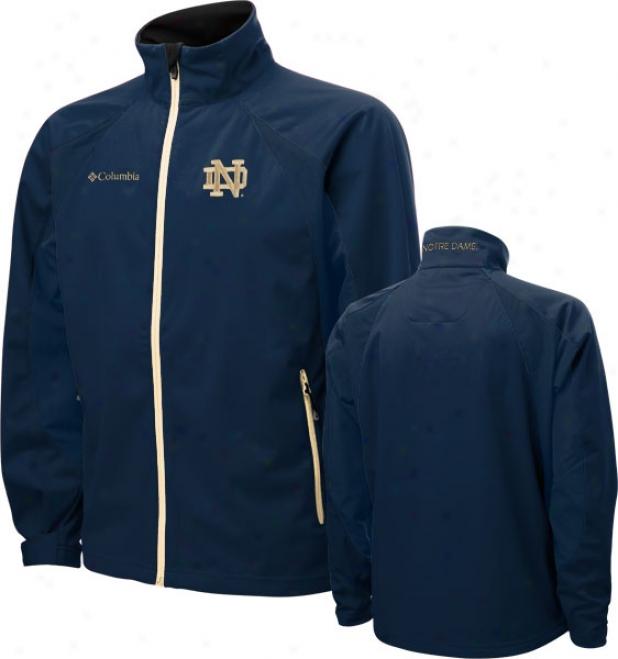 Notre Dame Fighting Irish Navy Columbia Swingman Softshell Jerkin