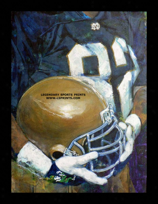 Notre Dame Contention Irish - &quotu Of Nd Helm Series&quot - Oversized - Framed Giclee