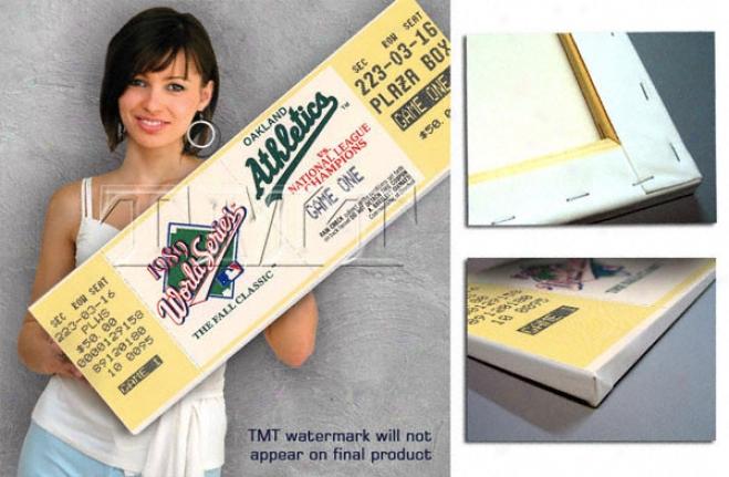 Oakland Athletics 1989 World Series Game 1 Canvas Mega Ticket