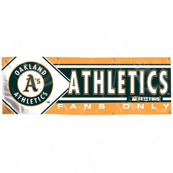 Oakland Athletics 2x6 Vinyl Banner
