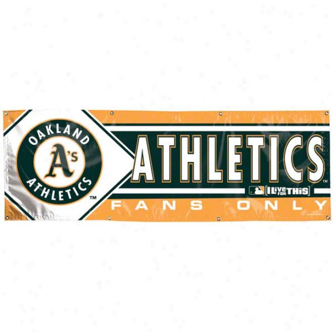 Oakland Athletics 2x6 Vinyl Banner