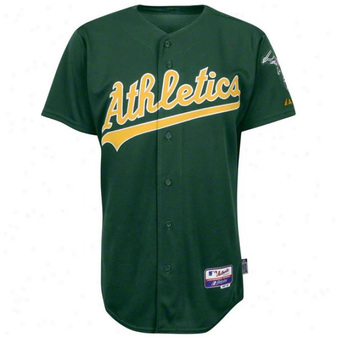 Oakland Athletics Alternate Green Authentic Cool Baseã¢â�žâ¢ On-field Mlb Jersey