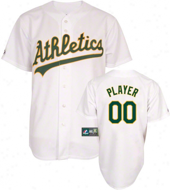 Oakland Athletics -Somewhat Player- Home Mlb Replica Jersey
