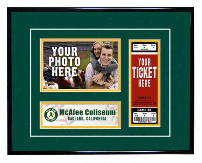 Oakland Athletics - Game Day - Ticket Frame