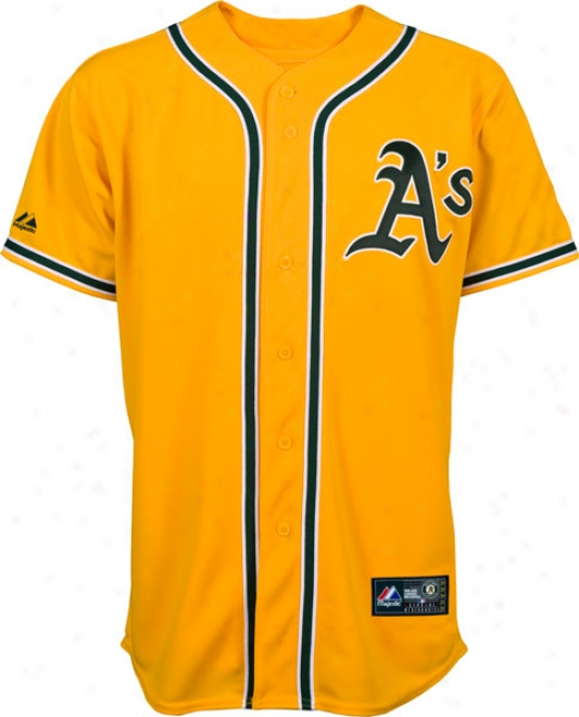 Oakland Athletics Majestic 2011 Alternate Gold Replica Mlb Jersey