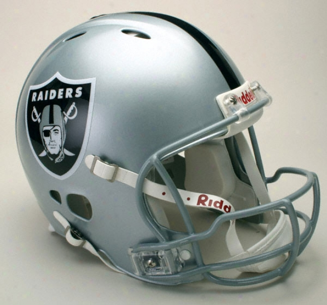 Oakland Raiders Authentic Pro Line Revolution Riddell Full Size Helmet