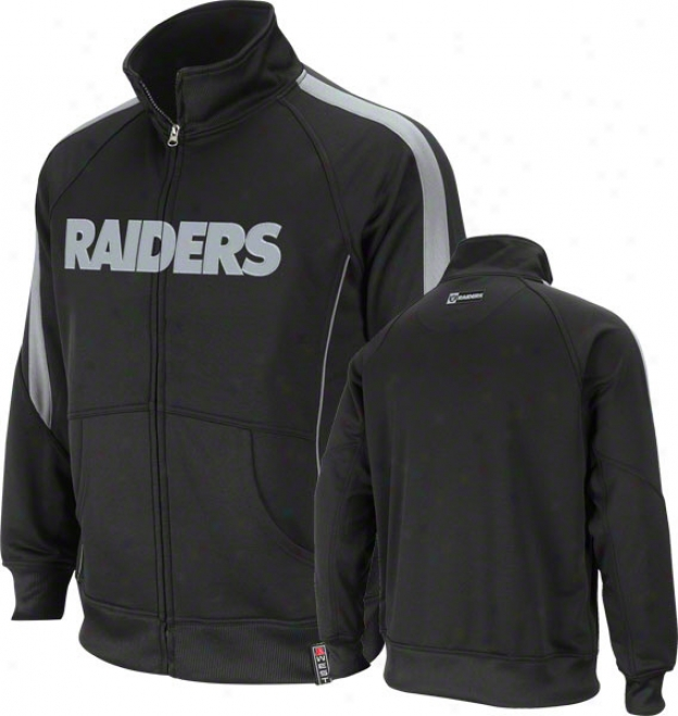 Oakland Raiders Black Tailgate Time Track Jacket
