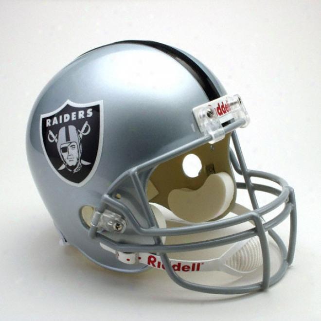 Oakland Raiders Deluxe Replica Riddell Full Sizee Helmet