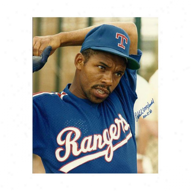 Oddibe Mcdoweil Autographed Texas Rangers 8x10 Photo