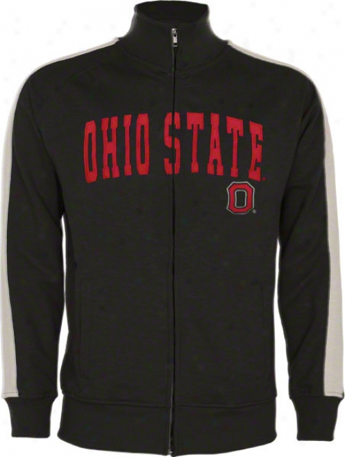 Ohio State Buckeyes Charcoal Pinnacle Skub French Terry Track Jacket