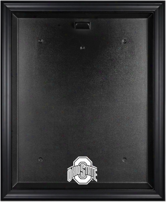 Ohio State Buckeyes Framed Logo Jersey Dispoay Case