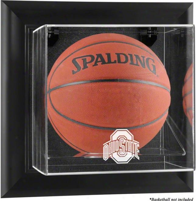 Ohio State Buckeyes Framed Wall Mounted Logo Basketbwll Display Case