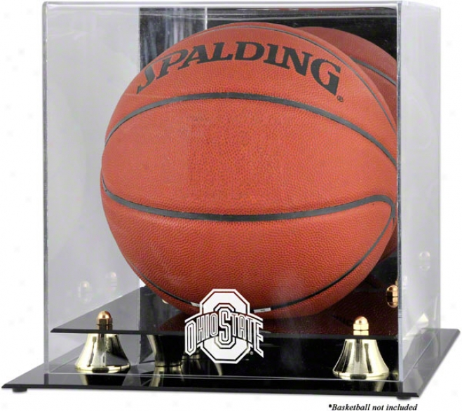 Ohio State Buckeyes Golden Classic Logo Basketball Display Case With Morror Back