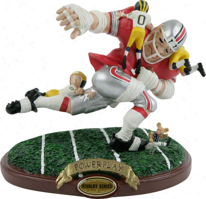Ohio State Buckeyes Powerplay Rivalry Figurine