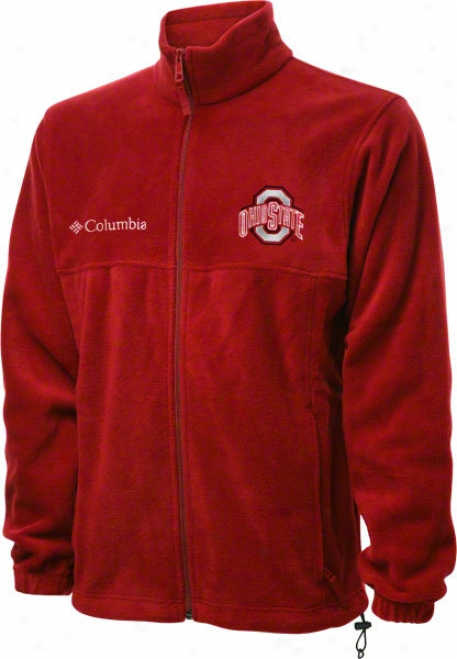Ohio State Buckeyes Red Columbia Flanker Full-zip Jerkin