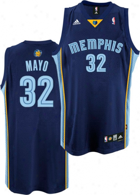 O.j. Mayo Jersey: Adidas Navy Swingman #32 Memphis Grizzlies Jersey