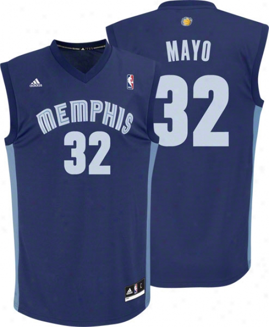 O.j. Mayo Jersey: Adidas Revolution 30 Navy Replica #32 Memphis Grizzlies Jersey
