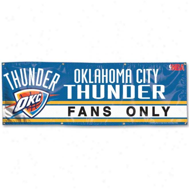 Oklahoma City Thunder 2x6 Vinyl Banner