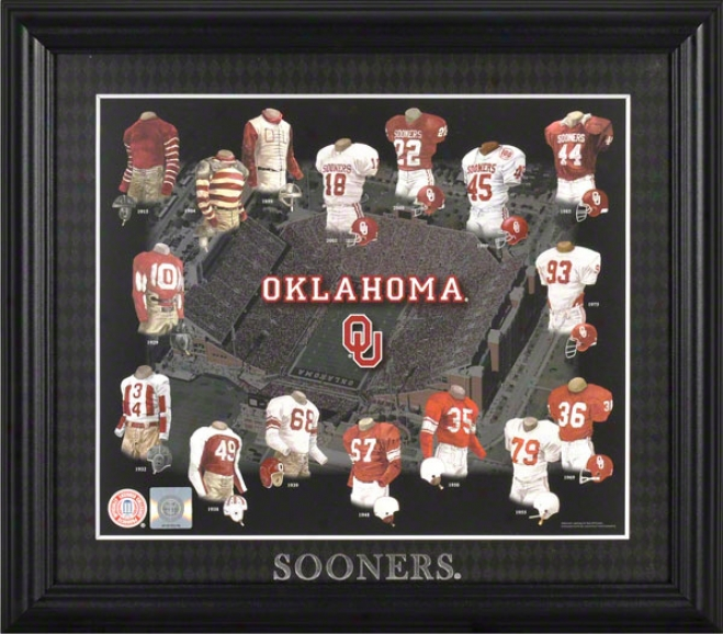 Oklahoma Sooners 13x15 Framed Print  Details: Descent by continuous differentiation