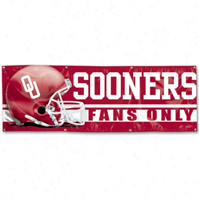 Oklahoma Sooners 2x6 Vinyl Banner