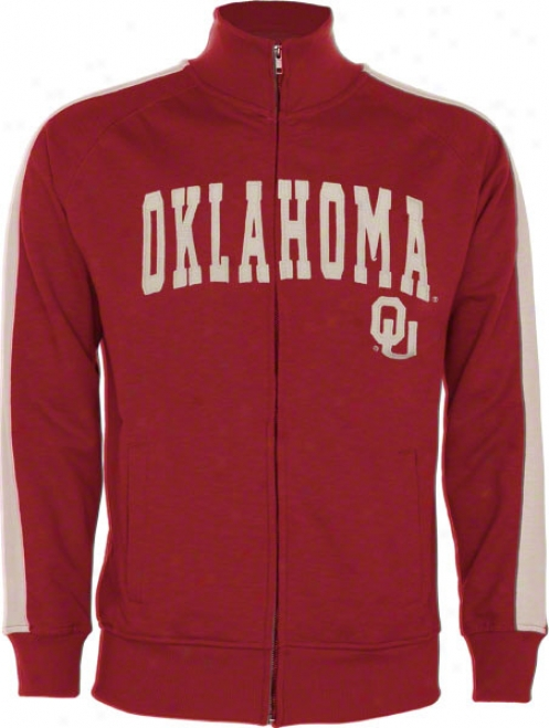 Oklahoma Sooners Cardinal Pinnacle Slub French Terry Track Jacket