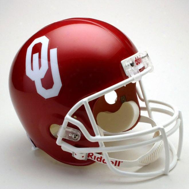 Oklahoma Sooners Deluxe Replica Riddell Helmet