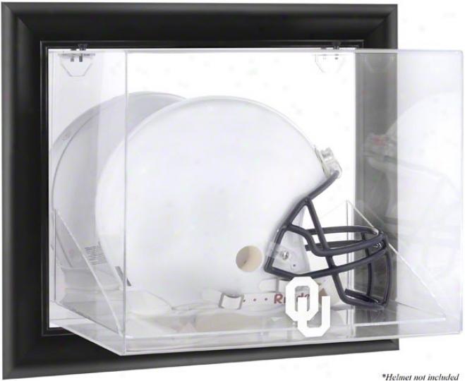 Oklahoma Sooners Framed Wall Mountable Logo Helm Display Case