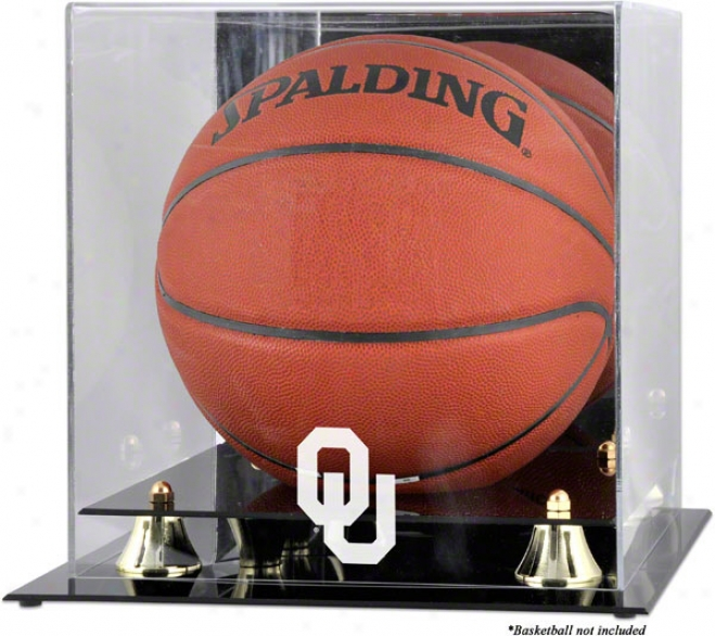 Oklahoma Sooners Gilden Classic Logo Basketba1l Display Case