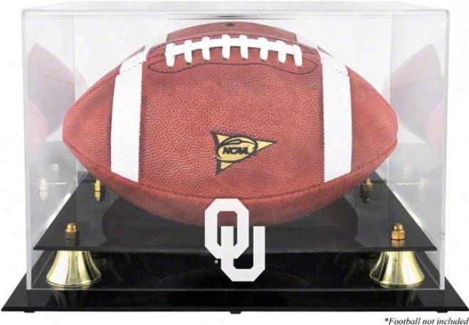 Oklahoma Sooners Golden Classic Logo Football Display Case