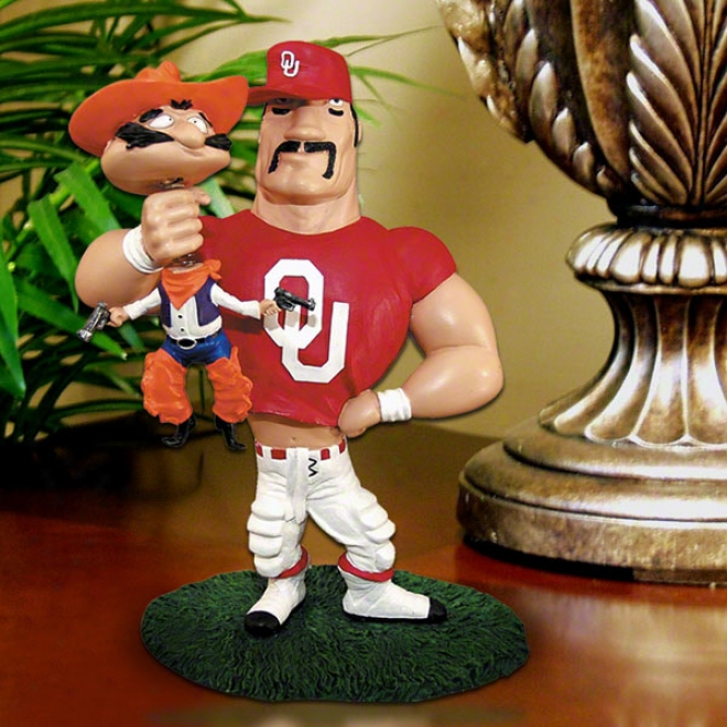 Oklahoma Sooneds Lester Single Choke Rivalry Figurine