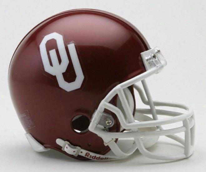 Oklahoma Sooners Riddell Mini Helmet