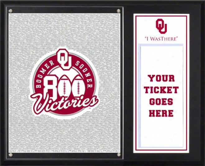 Oklahoma Sooners Sublimated 12x15 Plaque  Defails: 800 Wins, &quoti Was There&quot