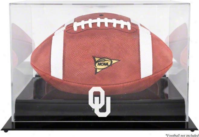 Oklahoma Sooners Team Logo Football Display Case  Details: Black Found