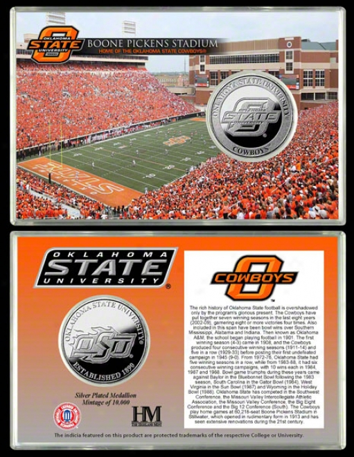 Oklahoma State Cowboys Boone Picjens Stadium Silver Coin Card