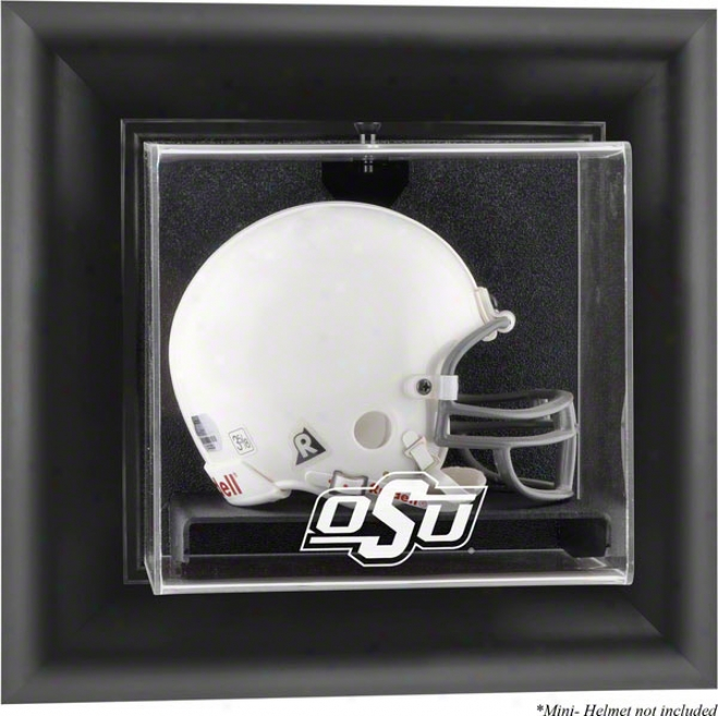 Oklahoma State Cowboys Framed Wall Mounted Logo Mini Helmet Display Case